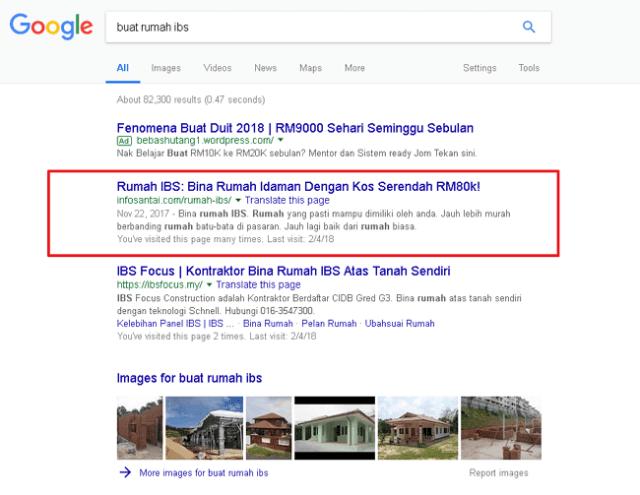 keputusan google search untuk buat rumah ibs