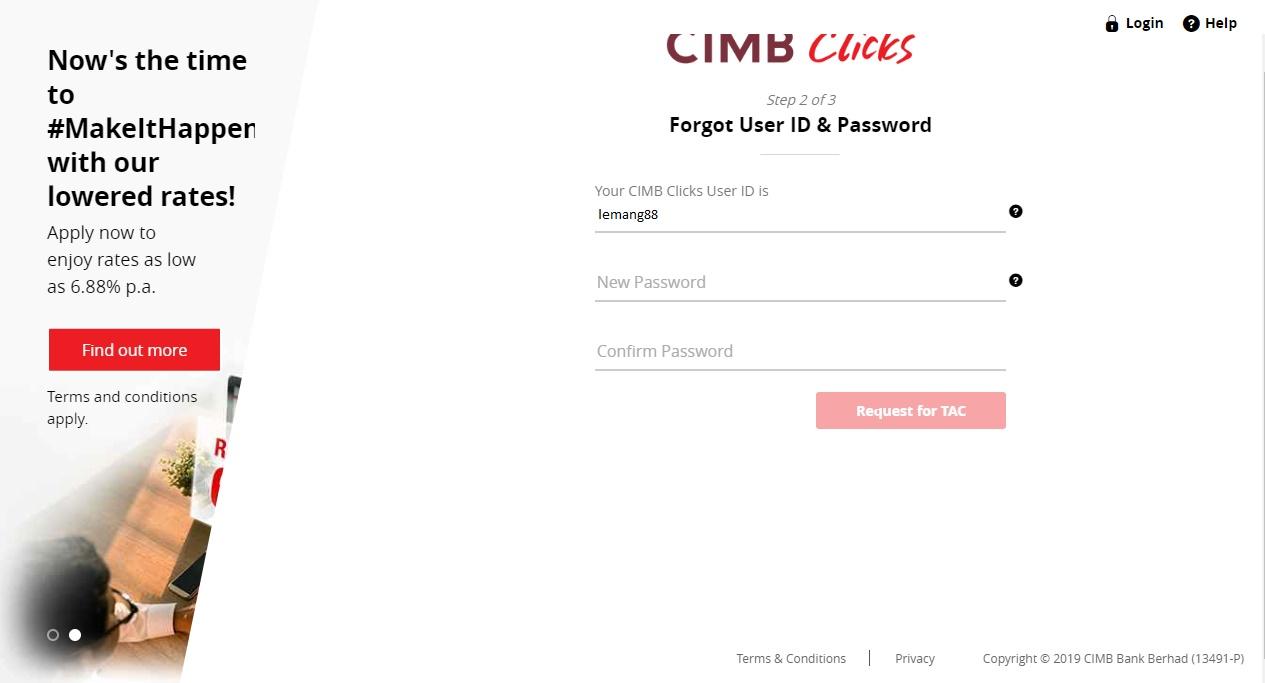 Terlupa Kata Laluan ? Tutorial Cara Reset Password CIMB Click 2019