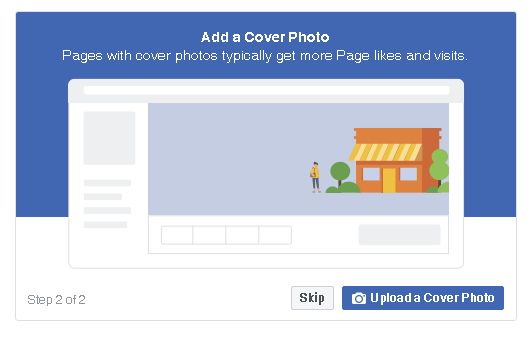 upload a cover photo