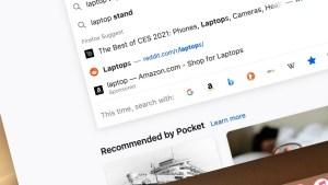 Ads appear Firefox address bar