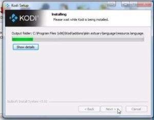 how kodi started installation