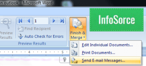 how to mail merge outlook