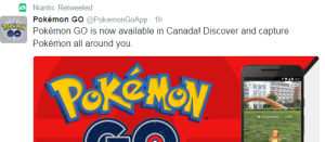 Pokemon GO launches in Canada