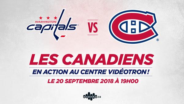 Les Capitals de Washington affronteront les Canadiens de Montréal au Centre Vidéotron