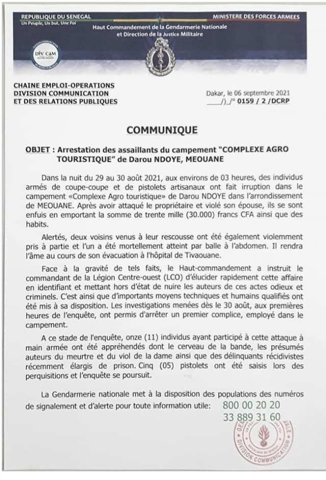 communiqué-gendarmerie