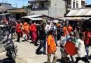 Diiringi Musik Tanjidor, Indira Diarak Warga Keliling Lorong