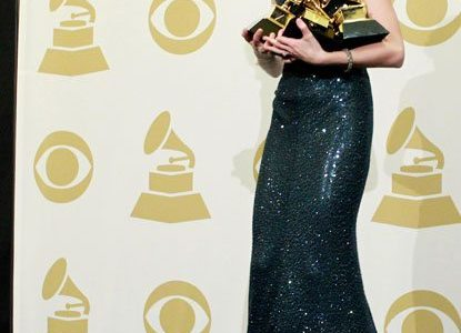 Taylor Drops and Breaks Her Grammy (on accident) 2