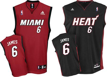 Lebron James Miami Heat Jersey 1