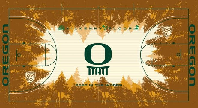 Photo of New Oregon Basketball Court Unveiled