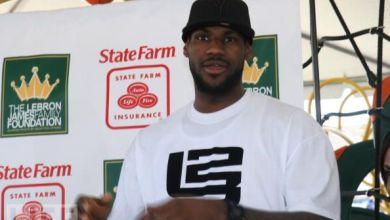 Photo of Lebron Representin' State Farm [video]