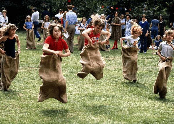 Kid's sack race