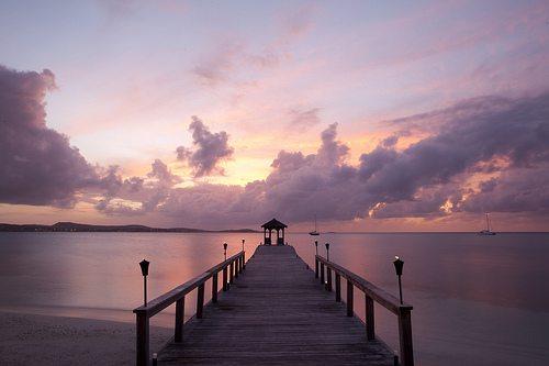 Jumby Bay - Dock at Sunset