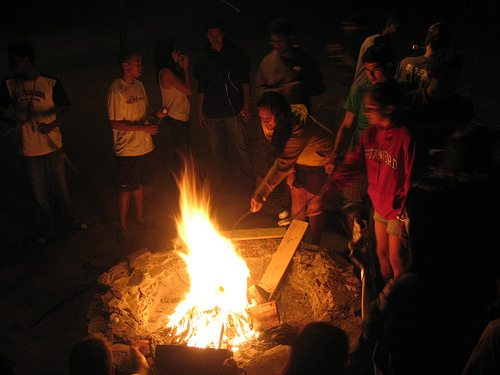 S'mores-making