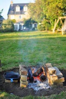 Campfire in the garden