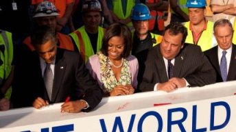 Beam Signed By President Obama Installed at World Trade Center 6