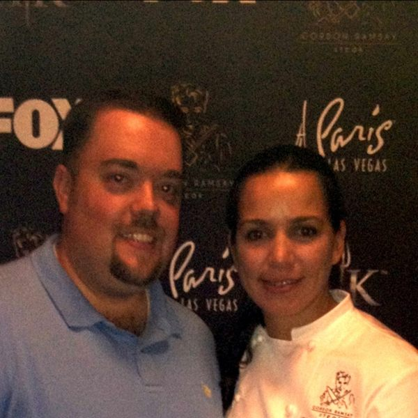 Winner of Hell's Kitchen Christina Wilson Interviewed at Gordon Ramsay Steak Las Vegas 3
