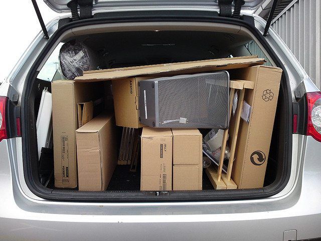 furniture in trunk