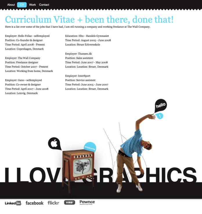 graphic design cv