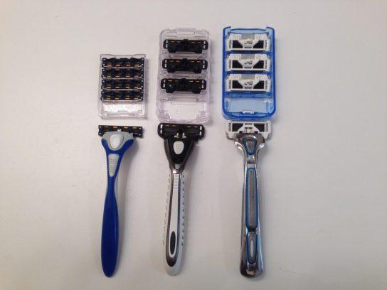 Dollar Shave Club Razor Line-up