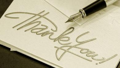Photo of Sending Thank You Cards the Old-Fashioned way but without Leaving Your Seat