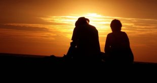 people with sunset