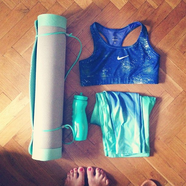 New awesome yoga gear :) love the turquoise color #nike #reebok #yoga #gear #fitness #sport #clothes #turquoise #whatisinmybag