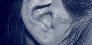 woman's ear