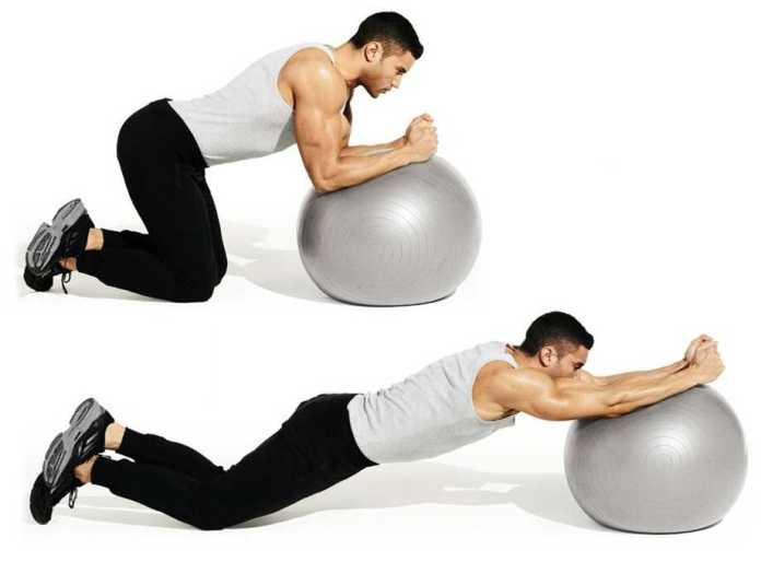 Swiss-Ball Rollout Exercise