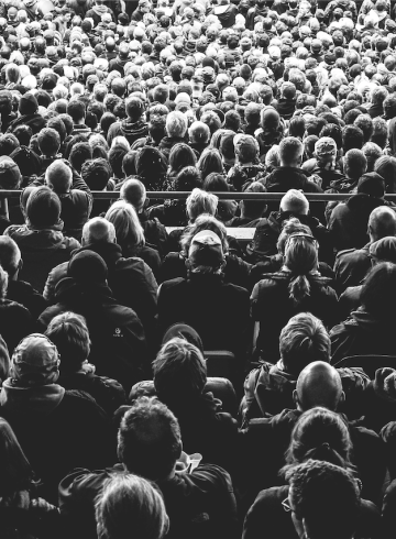 person, audience