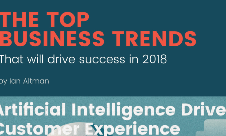 Photo of Top Business Trends For 2018 [Infographic]