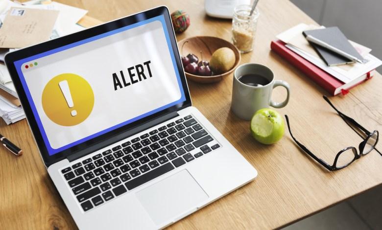 laptop alert