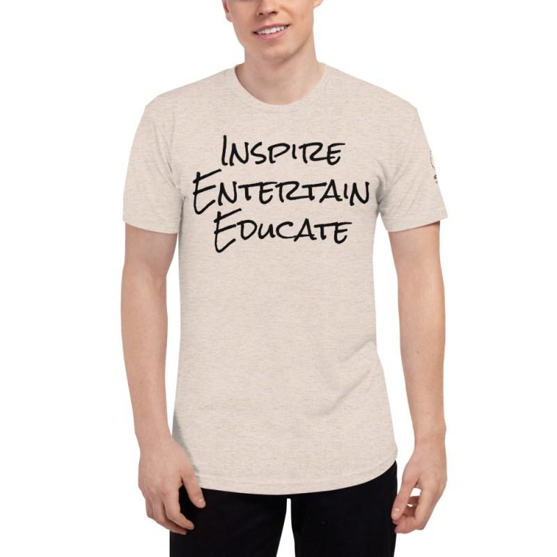Inspire | Entertain | Educate Unisex Tri-Blend Track Shirt 10