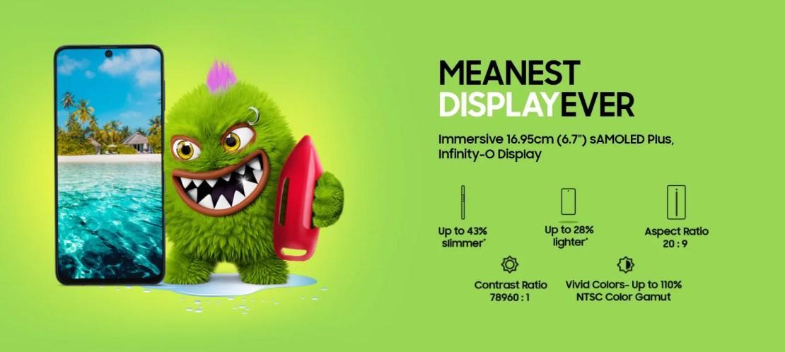 Samsung M51 Display Size