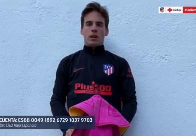 Gonzalo Caballero se suma a la campaña solidaria #LoDamosTodo, impulsada por Cruz Roja y el Atlético de Madrid