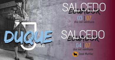 Jesús Duque hará el paseíllo dos tardes en Ecuador el próximo mes de julio