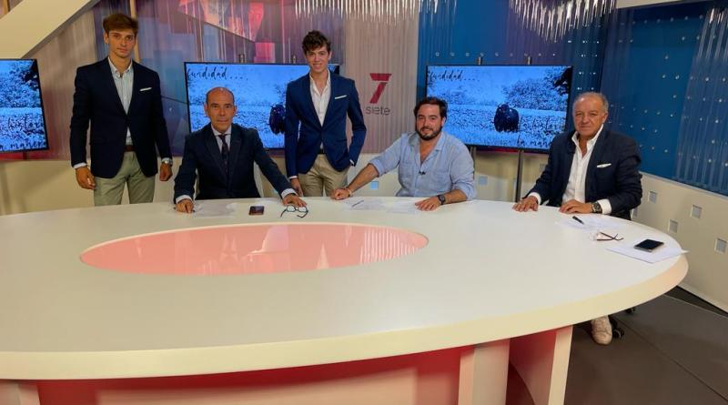 """Los novilleros Jaime González Écija y Jorge Martínez, en el programa """"7 Toros 7"""" de esta semana"""