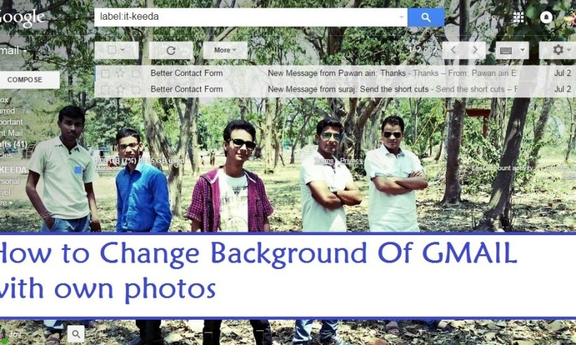 Change Background Of GMAIL with own photos
