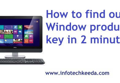 How to find out window product key in 2 minutes