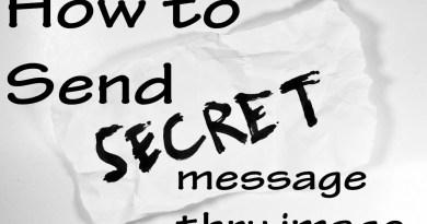 How to Send secret message thru image
