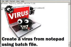 Create Notepad Virus