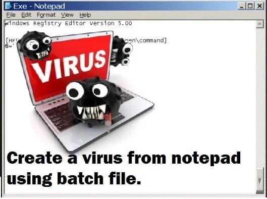 Create Notepad Virus