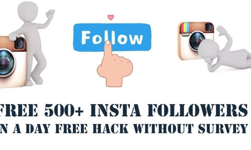 Free insta followers trick