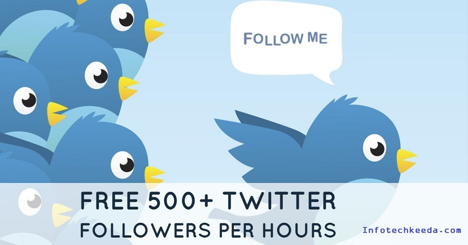 How to get Free twitter followers per hours 500+ followers