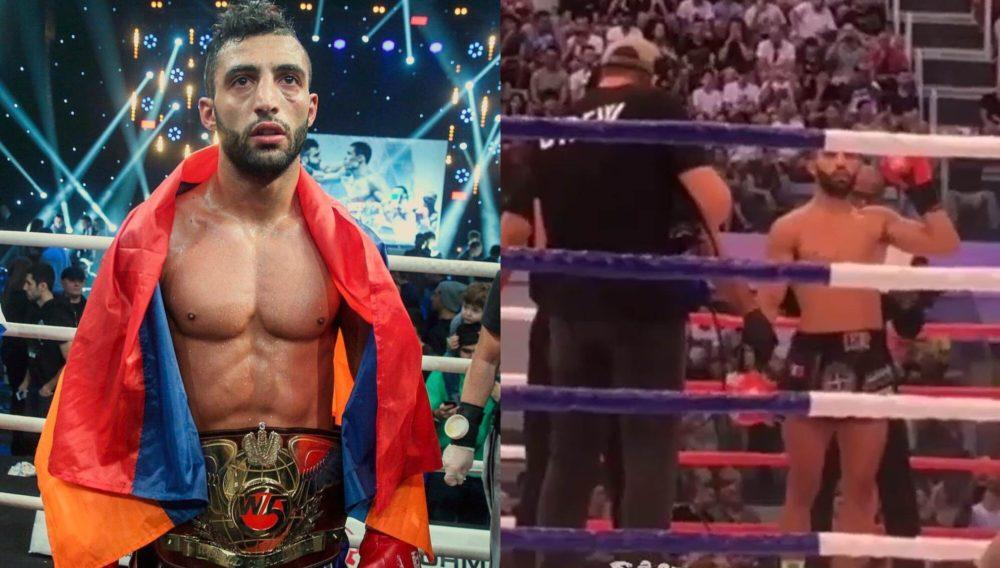Легенда кикбоксинга Джорджио(Геворг) Петросян одержал победу над азербайджанцем