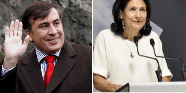 Саакашвили раздавал