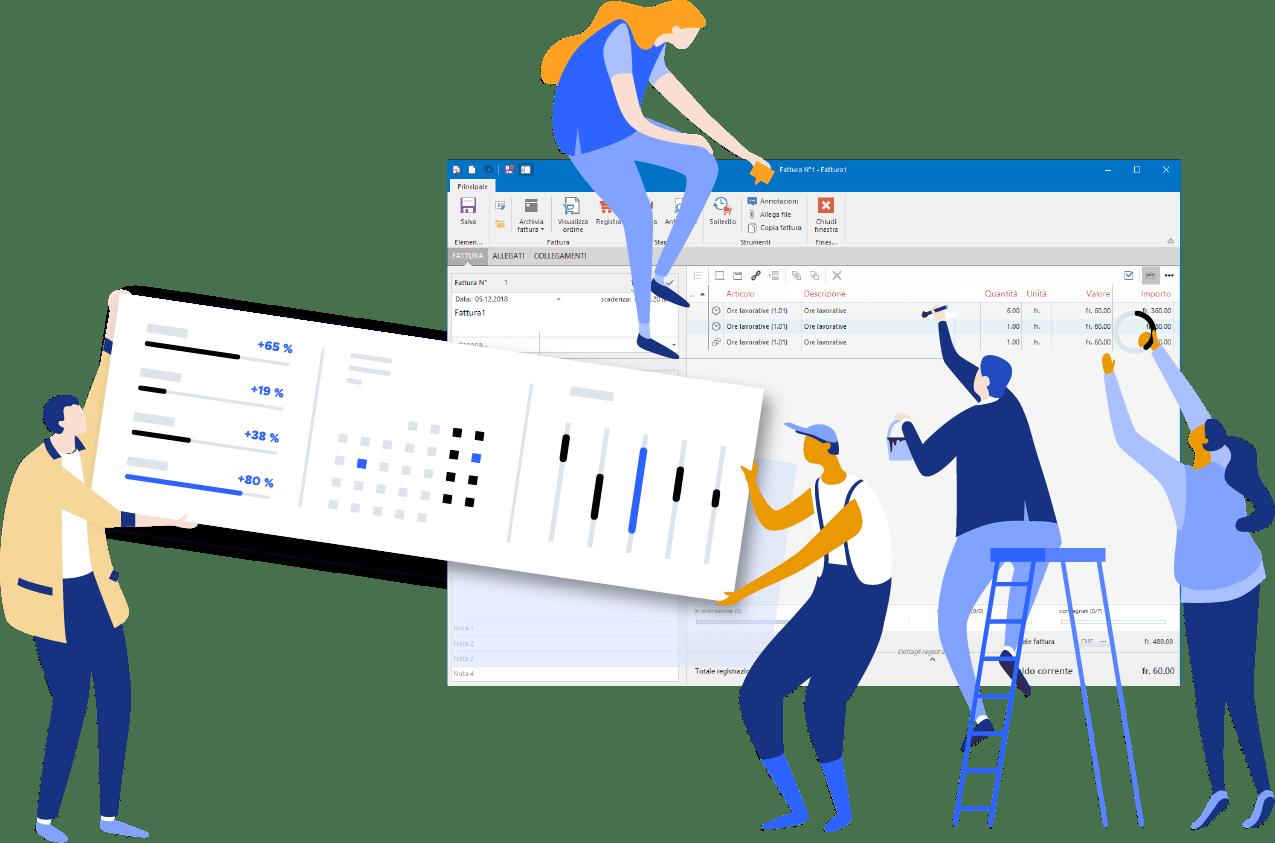 Infotime è il software gestionale per le aziende in Ticino