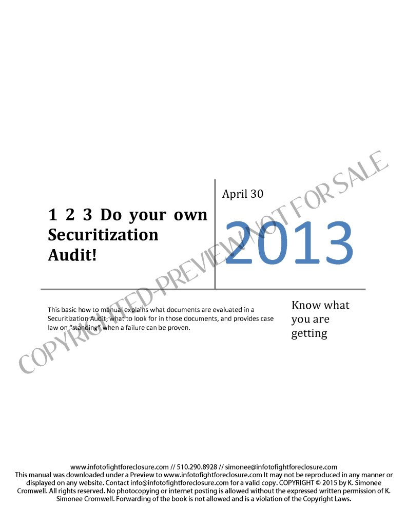 Preview 1 2 3 Do Your Own Securitization