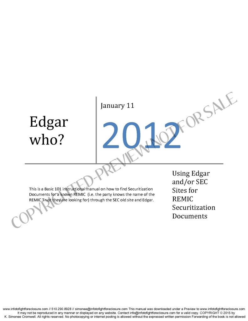 Preview How To Find Securitization Documents – Edgar Who?