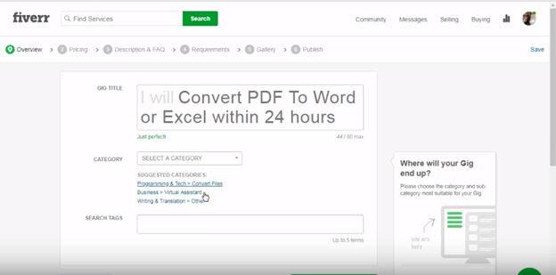 Fiverr category title tags