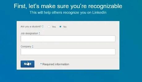 LinkedIn recognition